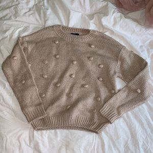 Forever 21 rose gold bubble sweater